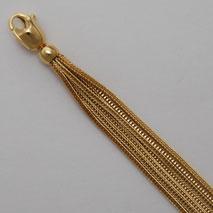 18K Foxtail Bracelet 1.2mm, 7 Strand