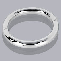 14K White Gold 10mm Tubular Bangle