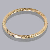 14K Yellow Gold 5.0mm Twisted Bangle