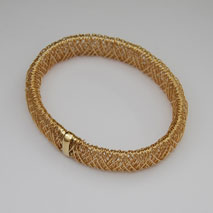 14K Yellow Gold Wire Wrapped Slip-On Bangle