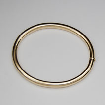 14K Yellow Gold 5mm Tubular Bangle