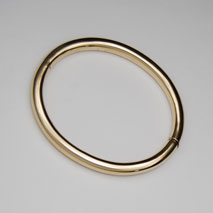 14K Yellow Gold 6mm Tubular Bangle