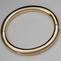 14K Yellow Gold 8mm Tubular Bangle