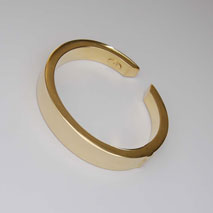 14k Yellow Gold Hinged Cuff Bangle, 61.5mm