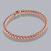 14K Rose Gold Braided Bangle 4.8mm
