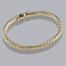 14K Yellow Gold Braided Bangle 4.8mm