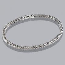 14K White Gold Braided Bangle 3.5mm