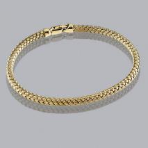 14K Yellow Gold Braided Bangle 3.5mm