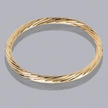 18K Small Twist Bangle