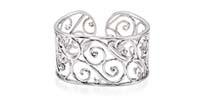 7 Inch Diamond Cuff Bracelet 1/2 Carat Total Weight
