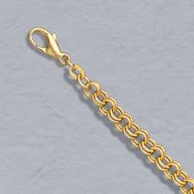 14K Yellow Gold Twin Cable Bracelet, 4.8mm