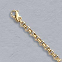14K Yellow Gold Heavy Rolo Bracelet 4.0mm