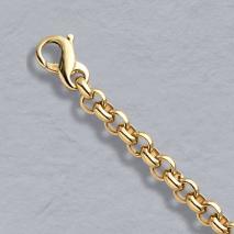 14K Yellow Gold Heavy Rolo 5.5mm Bracelet