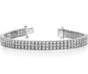 Classic Three Row Diamond Bracelet
