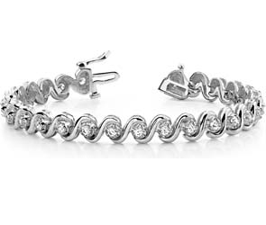 Smart S Diamond Bracelet