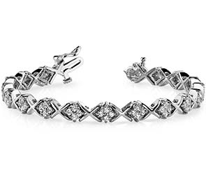 X-Pattern Diamond Bracelet