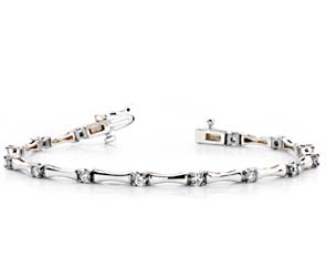 Alternating Diamond Column Bracelet