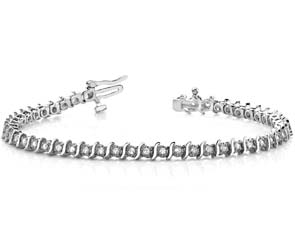 Swirling Illusion Diamond Tennis Bracelet