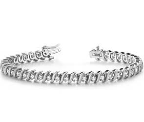 Classic Wavy Diamond Bracelet
