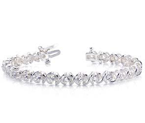 X-Link Diamond Bracelet