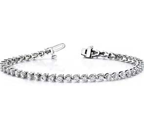 Timeless Three Prong Tennis Bracelet