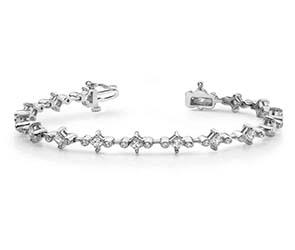 Prong And Bezel Set Diamond Bracelet