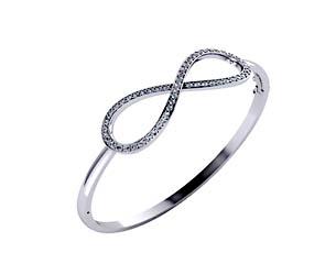 Infinity Sign Bangle Bracelet