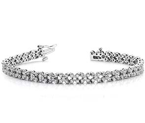Diamond Round Flower Bracelet