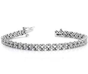 Diamond Round Flower Bracelet