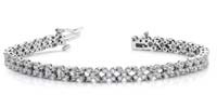 Diamond Round Flower Bracelet 6 Carat Total Weight