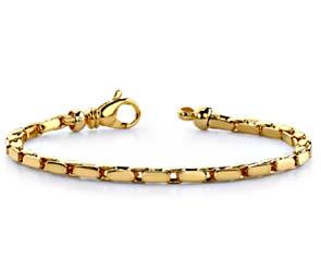 Flat Oval Link Metal Bracelet