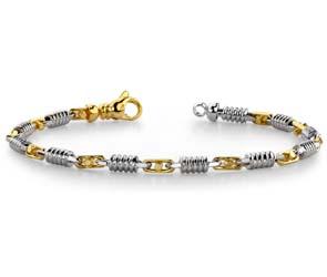 Buckle and Spiral Link Bracelet