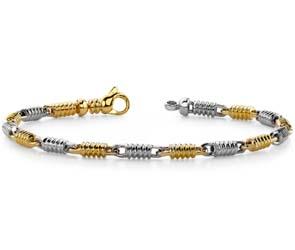 Two Tone Spiral Link Bracelet