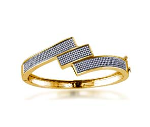 Ladies Micro Pave Bangle Bracelet