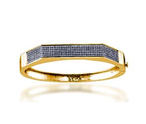 Micro Pave Diamond Bangle Bracelet