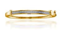 Diamond Micro Pave Bangle Bracelet 1/3 Carat Total Weight