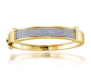 Diamond Micro Pave Bangle Bracelet
