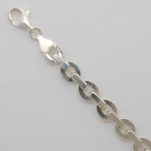 Sterling Silver Large Flat Link Bracelet