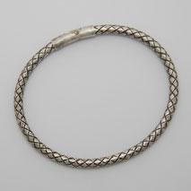 Sterling Silver Chalif 3.8mm Bracelet, Crocodile Clasp, Oxidized