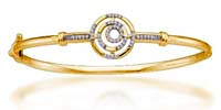 Ladies Diamond Fashion Bangle Bracelet 0.25 Carat Total Weight