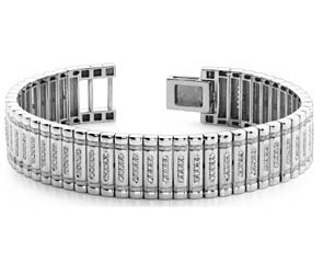 Embedded Diamond Link Bracelet