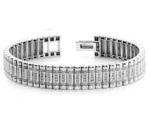 Diamond Column Mens Bracelet