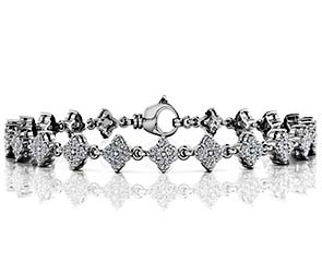 Fleur Link Diamond Bracelet