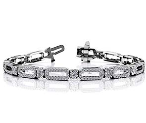 Victorian Capsule Link Diamond Bracelet