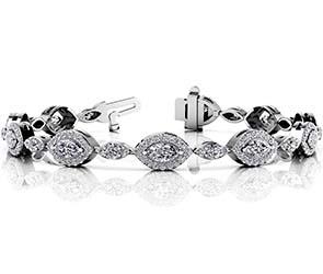 Vintage Marquise Center Diamond Bracelet