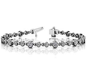 Milgrain Chain Link Diamond Bracelet