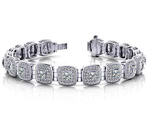 Vintage Inspired Fancy Diamond Bracelet