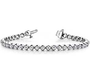 Solid Nugget Diamond Bracelet