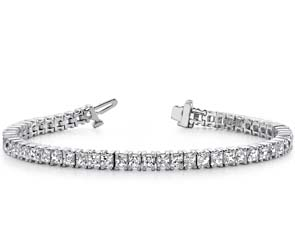 Princess Cut Diamond Strand Bracelet
