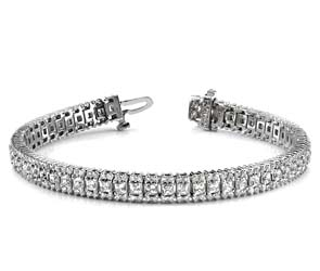 Round and Princess Diamond Bracelet